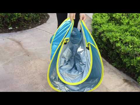 How to Fold Back Baby Beach Pool Tent by SINITI