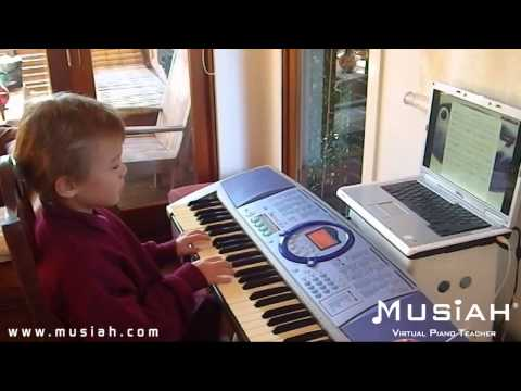 Piano Video: Online Piano Lesson #40 Old MacDonald played by Jackson