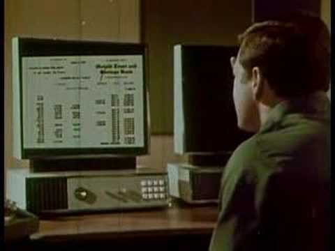 1967 - Clip from the 1967 film 1999 A.D. in which we see the family of the future shopping, paying bills and using electronic mail from home.