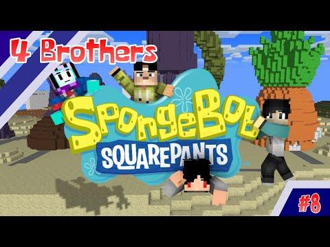 4 BROTHER Jadi SPONGEBOB and Friends - Animasi Minecraft Indonesia #8