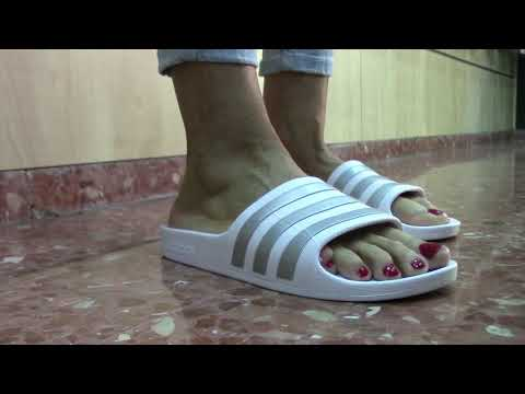 Modelos de uñas - Chanclas Adidas Blancas Mujer  Comprar Chanclas Adidas Verano 2019