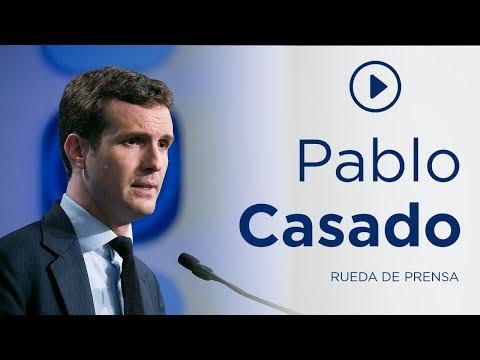 """Casado: """"Quieren convertir a los españoles en rehenes de Otegi y Puigdemont"""""""