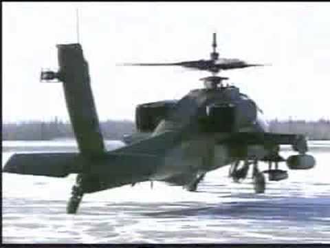 The AH-64 Apache is a four-blade,...