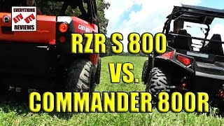 1. Rzr S 800 and Can Am Commander 800 COMPARISON  (Full Version)