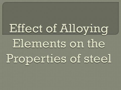 Effect of Alloying Elements on Properties of steel | Carbon | Manganese | Silicon | Nickel
