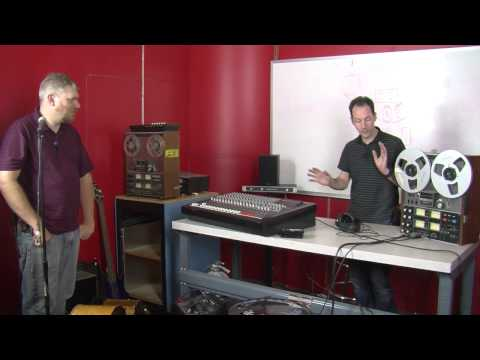 recording - Chris, Olivier, and member Todd band together to demonstrate how multitrack recording on reel-to-reels works by recording a track of their own.