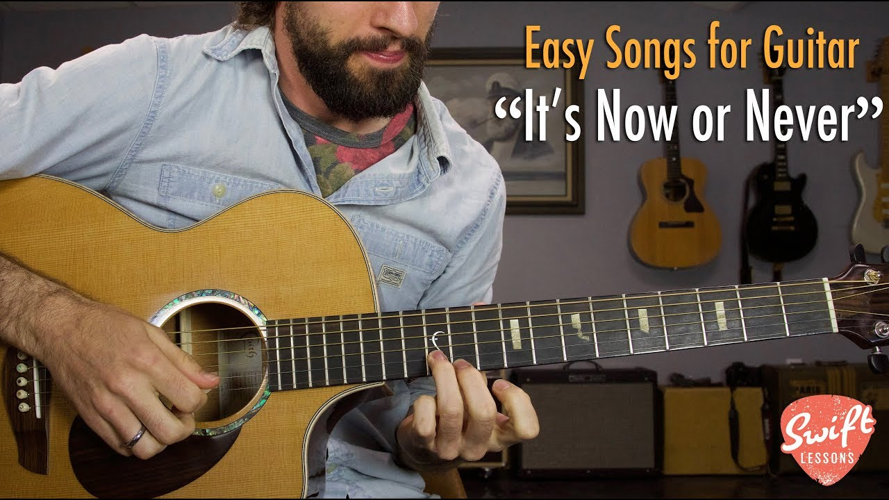 "Elvis Presley ""It's Now or Never"" – Easy Acoustic Guitar Songs Lesson"