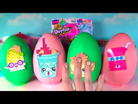SHOPKINS Season 4 Play Doh Surprise Eggs - Petkins Limited Edition Hunt