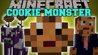 Minecraft: COOKIE MONSTER (JUMPING COOKIES, COOKIE COW, COOKIE BIOME,&MORE!) Mod Showcase