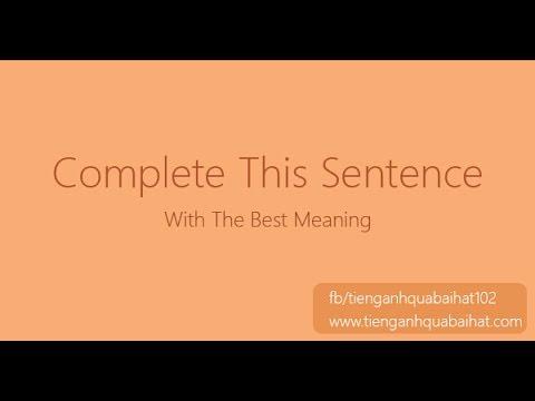 Luyện Ghép Câu Tiếng Anh 004 - Thời lượng: 18 giây.