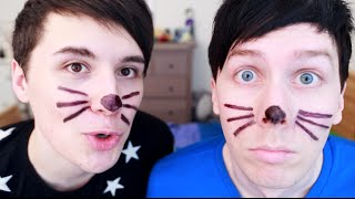Two boys.. one sharpie.. 6 years of whiskers. Check out our BRAND NEW MERCH! http://www.danandphilshop.com ...