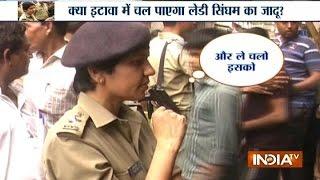 Watch Dabangg Lady IPS Officer Manjil Saini on 'Operation Clean' in Etawah
