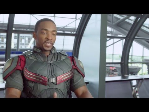 """Captain America Civil War Behind-The-Scenes """"Falcon"""" Interview - Anthony Mackie видео"""