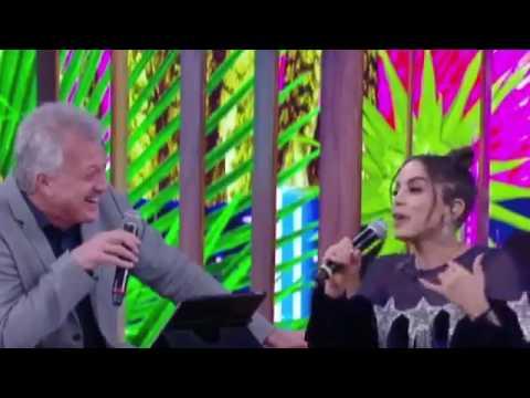 Anitta e Pedro Bial fazem dueto em inglês e surpreendem a web no Conversa com Bial -15/6/2017