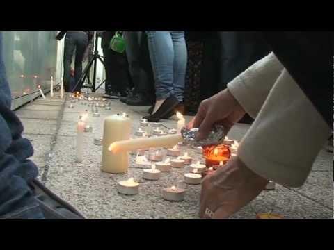 Gyertyagyújtás a toulouse-i áldozatok emlékére