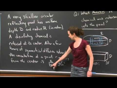4J3, Diffusion of a Chemical | MIT 18.01SC Single Variable Calculus, Fall 2010