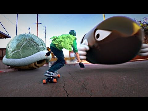 Mario Kart Skateboarding In Real Life