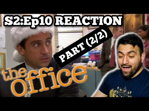 The Office REACTION Season 2 Episode 10 Christmas Party PART (2/2) *RE-UPLOAD*