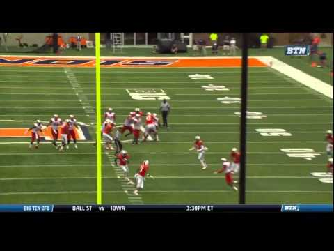 Brandon Doughty Game Highlights vs Illinois 2014 video.