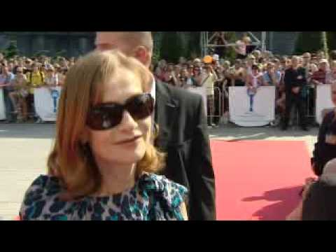 Boriboj - Isabelle Huppert discusses taking one of the leads in Villa Amalia and receiving a lifetime achievement award at the Czech Republics Karlovy Vary IFF, July 2...
