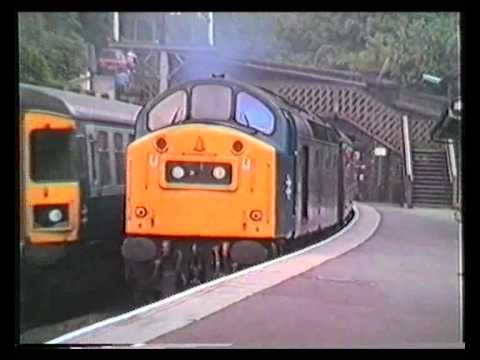 class 40 152 thrashes out of New Mills 25/06/83 on the Yarmouth