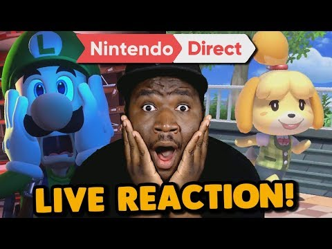 Animal Crossing!? Luigi's Mansion3!? AHHHH!!! | Nintendo Direct LIVE REACTION