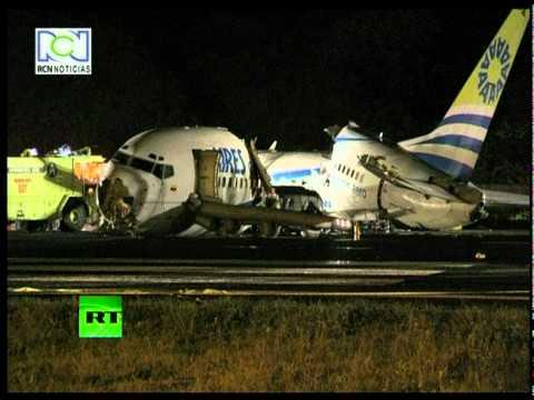 Lucky Escape: Video of Colombia Boeing 737 crash landing site, plane split into 3 parts