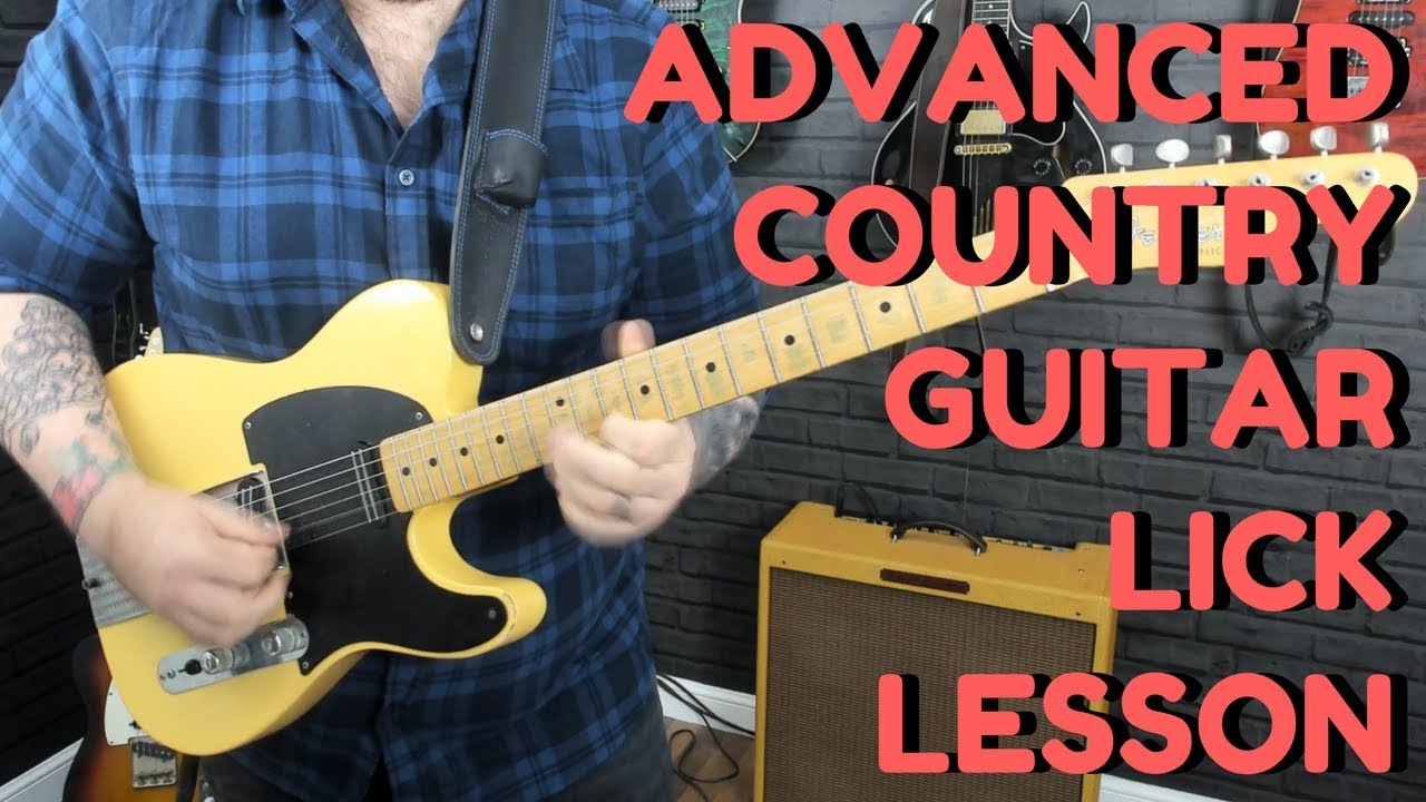 Advanced Country Guitar Lick Lesson – Outlining Chords And Position Shifting