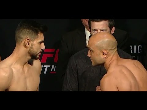 BJ Penn vs Yair Rodriguez UFC Fight Night Weigh-In   (Main Event) (видео)