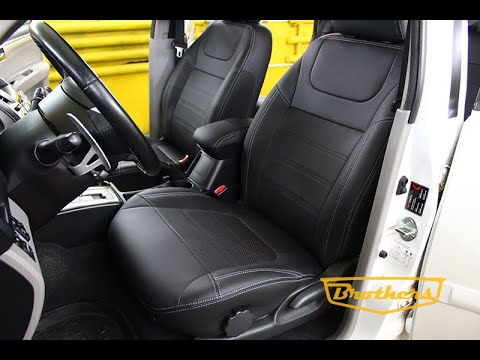 "Чехлы на Mitsubishi Pajero Sport 2, 2008 - 2013 серии ""Premium"" - серая строчка"