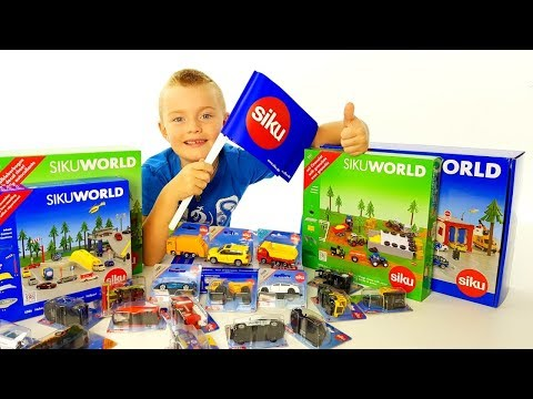 SIKU WORLD Cars four kids, Machinine per Bambini, Grande scatola piena di giochi - Regalo Super Alex