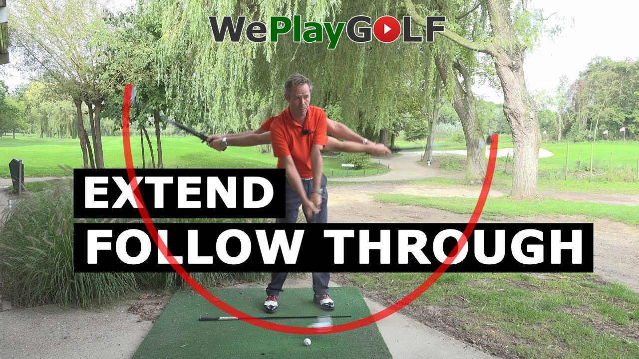 Golf Practice: Extend your follow through