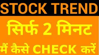 Video Stock Trend - How to find out in Just 2 Mins | HINDI MP3, 3GP, MP4, WEBM, AVI, FLV Maret 2019
