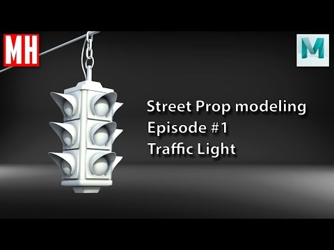 3D Street Prop modeling series Episode #1 : Traffic Light
