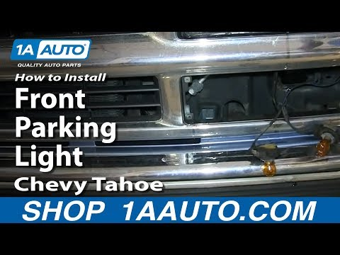How To Install Replace Front Parking Light 1996-99 Chevy Tahoe C1500 K1500 Pickup Truck
