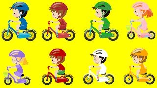 Best Toys: http://bit.ly/BestToys4Learn Fun Color Bikes with Kids and Babies. Educational and learning video for children to learn color names and spellings. Funny stunts on Bikes by Kids laughing and enjoying. These are the Colors of superheroes!This video is suitable for ESL and Autism kids. Also for someone who want to learn color names in English as second language. We hope your kid will enjoy this video and learn the pronunciation and name of different colors.The list of color codes, times codes and superheroes colors:1. All Colors - 0:032. Yellow - 2:15 #Avengers3. Red - 1:45 #Spiderman4. Green - 0:45 #Hulk5. Blue - 0:15 #Superman6. Orange - 1:00 #Wolverine7. White - 2:00 #DarthVadar8. Pink - 1:15 #FrozenElsa9. Purple - 1:30 #WonderWomen10. Brown - 0:30 #Venom11. All Colors - 2:30😀 Fun and Educational Videos For Kids: 😀 Children Playing in the Park 1 : http://bit.ly/1QnzyMgChildren Playing in the playground : http://bit.ly/1PGtmdoTrucks For Children : http://bit.ly/1P7knpvConstruction Trucks At Work : http://bit.ly/1S67SLzXtreme Trucks And Toys : http://bit.ly/1RAU9OgMonster Trucks For Kids : http://bit.ly/20g3jRWTrain For Children : http://bit.ly/1ZNU0MbTrains In Action : http://bit.ly/1NlLFTBTrain For Toddlers : http://bit.ly/1RUkszmToys For Children : http://bit.ly/1noC49UHot Wheels Cars : http://bit.ly/1Pj8fUeStreet Vehicles For Children : http://bit.ly/1SywRZEColors Song, Learn Colors For Children : http://bit.ly/1PGtvOaShapes Song, Learn Shapes For Children : http://bit.ly/1PqepeYMonster Trucks, Trucks For Children : http://bit.ly/1OycGXGFIRE TRUCKS: Firetruck For Kids, Fire Truck Siren, Firetruck Song: http://bit.ly/1P7kLElFeel free to make a Comment and Share it.  I hope you will click LIKE & SUBSCRIBE. Click Here To Subscribe : https://goo.gl/h3G25U😀 Follow Us Socially 😀====================================🌐 https://twitter.com/FunnyVideozz🌐 https://www.pinterest.com/JeannetChannel🌐 https://www.facebook.com/ChooChooTrainsToddlers🌐 https://plus.google.com/+ChooChooTrainsToddlers🌐 http://www.HappySandyTV.com🔊 LIKE ➡ SHARE ➡ SUBSCRIBECourtesy:Images: http://www.Freepik.comMusic: YouTube