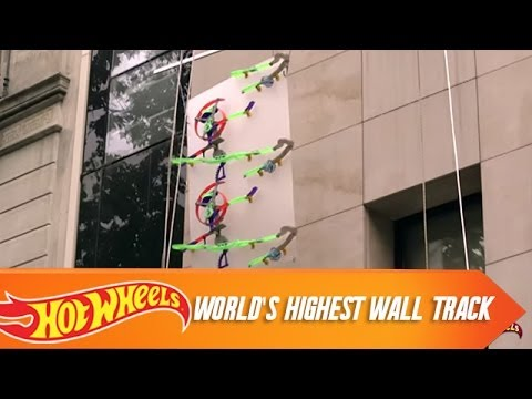 The World  s Highest Hot Wheels Wall Track