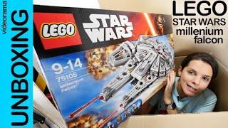 LEGO Star Wars Halcón Milenario 75105 unboxing