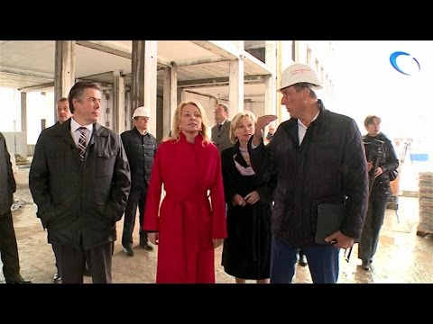 Наталья Третьяк посетила строительную площадку новой школы в микрорайоне Ивушки