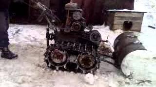 Мотоблок урал уборка снега.