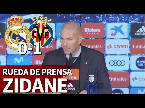 Real Madrid 0-1 Villarreal | Rueda de prensa de Zidane | Diario AS