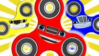 Blaze og Monster Maskiner Nickelodeon ⭐ Kids Lær farver og Counting ⭐ skælde SpinnersBørn video, hvor børnene lærer ...