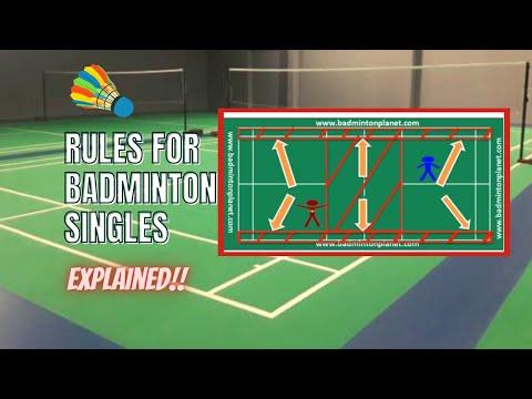 Rules for Badminton singles – By BadmintonPlanet.com