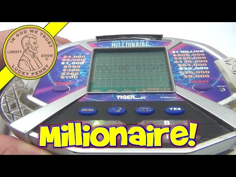 Who Wants To Be A Millionaire Electronic Handheld Game, 2000 Tiger Electronics