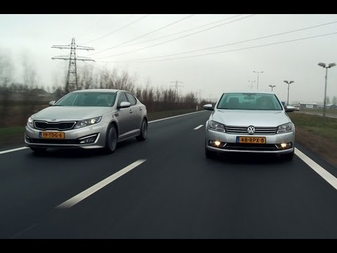 Kia Optima vs Volkswagen Passat (english subtitled)
