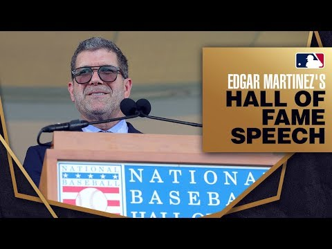 Video: Edgar Martinez is inducted into the Hall of Fame