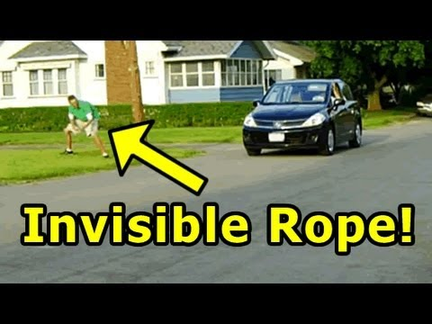 II - Funny pranks -- Invisible Rope Prank In this funny video, our second attempt of the funny invisible rope prank. Be sure to check out our other funny videos. ...