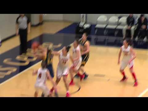 2016-01-23 TWU Women's Basketball Highlights vs Calgary