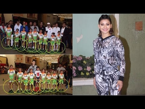 "Urvashi Rautela At Grand Event Of ""Roller Skating & Hoola Hoop"""
