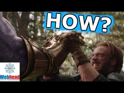 The REAL REASON Captain America Can Hold Back Thanos And The Infinity Gauntlet | Webhead